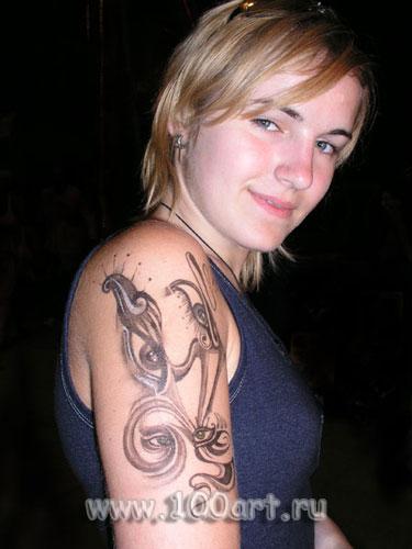 временные татуировки, боди арт