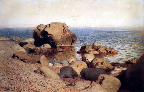 Художник Исаак Ильич Левитан.  «У берега моря. Крым», 1886 год.